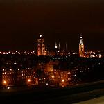 Kościół Mariacki i Ratusz nocą