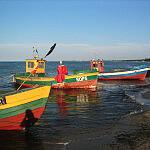 Łódki na plaży w Sopocie