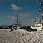 Port w Gdyni zimą