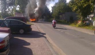 Pożar samochodu w Gdańsku