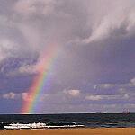 Tęcza na plaży Stogi :)