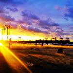 Piękny zachód słońca z plaży Stogi :)