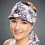 Kolekcja turbanów Beaute de Femme, model - Sara z daszkiem