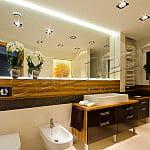 Oświetlenie LED łazienki – oprawy + taśma LED – www.sellneo.pl