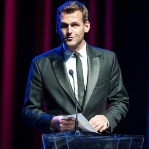 Olimpijczyk, prezez Fundacji Gdańskiej Mateusz Kusznierewicz ogłasza laureata w kategorii Trójmiasto Blisko Morza