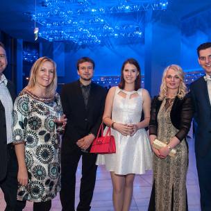 Katarzyna Michałowska z mężem, Łukasz Rudziński, Paulina Skałbania, Marta Nicgorska, Paweł Klikowicz