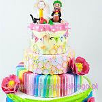 Bardzo kolorowy tort na Wesele Ślub
