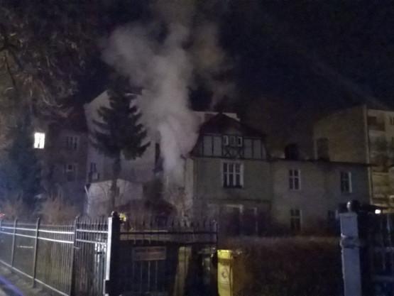 Nocna akcja strażaków w Sopocie