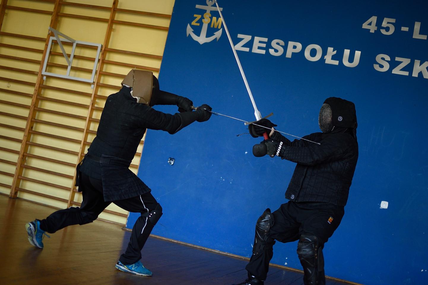 Trening walki grupy Rebellium