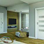Drzwi Porta Koncept , Model : H.4 , Okleina : Portadecor Biały