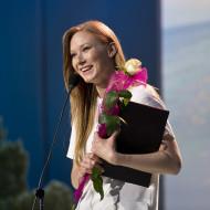"""Nagroda aktorska za rolę kobiecą dla Katarzyny Dąbrowskiej za rolę Kobiety w słuchowisku """"Pożegnalna podróż"""""""