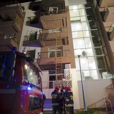 Pożar mieszkania na osiedlu Audiopolis