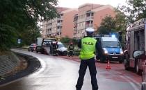 Policja kieruje ruchem na ul. Świętokrzyskiej