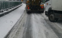 Korki na obwodnicy w Gdyni po śnieżycy