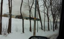 Pożar autobusu na al. Havla