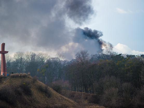 Trwa gaszenie pożaru domu