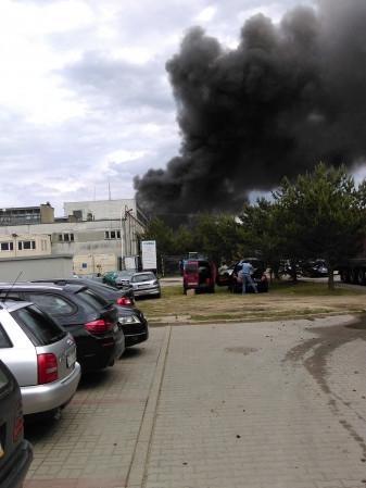 Pożar magazynu na Chwaszczyńskiej