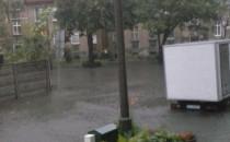 Ulica Chwaszczyńska w Gdańsku pod wodą