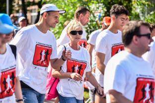 Ponad 200 osób chodziło z listonoszami w Gdańsku