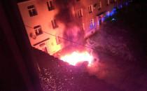 Spalone samochody w Oliwie