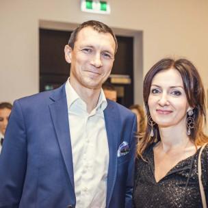 Konrad Mickiewiecz z żoną