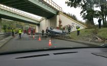 Skutki wypadku na Drodze Gdyńskiej