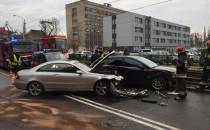 Zderzenie dwóch aut przy ECS