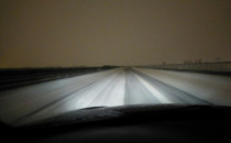 Obwodnica południowa pokryta śniegiem