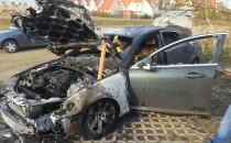 Borkowo , spalony Jaguar