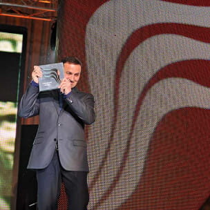 Dariusz Pachla - szczęśliwy laureat w kategorii Marka Trójmiasta