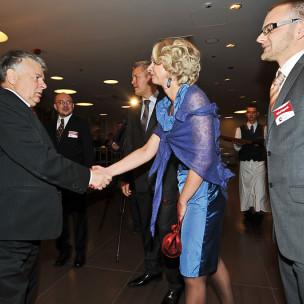 Agnieszka Bomba i Bogdan Borusewicz