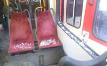 Skutki kolizji tramwajów na Hucisku