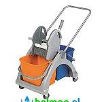 Wózek do sprzątania mopem na mokro