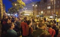 Protest przed sądem w Gdańsku