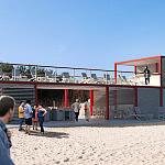 projekt modułowej kawiarni na plaży
