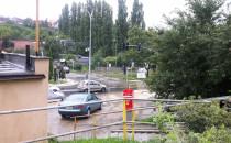 Duże opady na Oruni