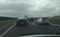 Duży korek na A1 przed zjazdem Kopytkowo,...