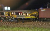 Zderzenie drezyny z pociągiem towarowym w...