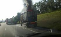 Strażacy kończą gasić kontener na obwodnicy