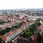 Gdańsk - widok z wieży kościoła Mariackiego