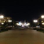 Skwer Kościuszki nocą