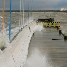 Molo w Sopocie ofiarą sztormu