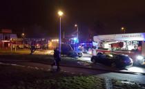 Pożar na ul. Południowej w Chyloni