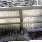 Molo w Brzeźnie zimą