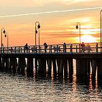 Wschód słońca molo Orłowo