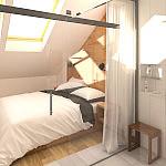 Aranżacja sypialni z łazienką, Gdynia