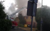 Pożar pustostanu przy ul. Legnickiej w...
