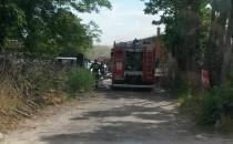 pożar złomowanie na Bysewie zamknięta...