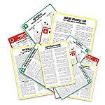 Instrukcje BHP oraz znaki i tablice informacyjne, ostrzegawcze.