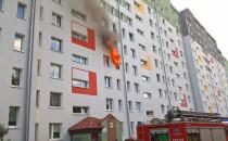 Pożar na Krawieckiej w Gdyni
